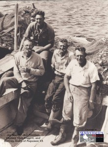Jay Martin, Bill Freeman, Captain Alph Huggett, and Hartnes Insley of Poquoson Va