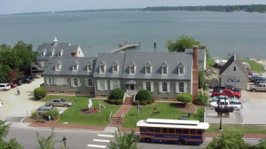 The Watermen's Museum and the York River upriver view